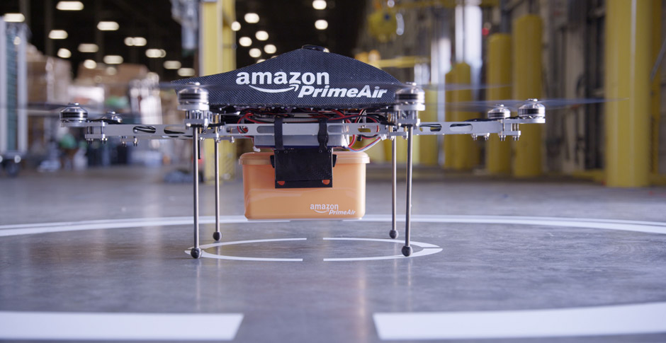 Amazon Air Drone. Not ready for freight yet.