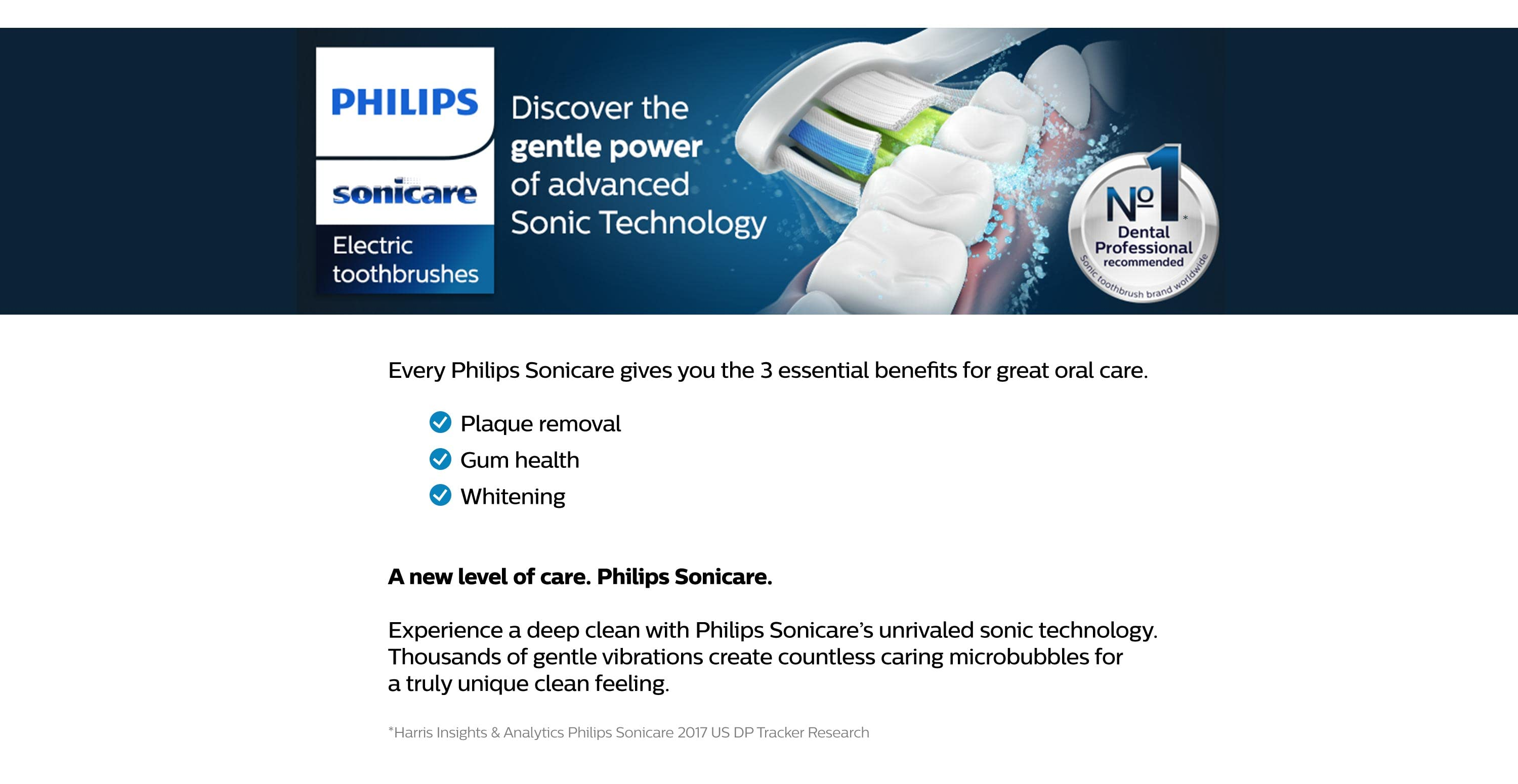 Discover the gentle power of advanced Sonic Technology