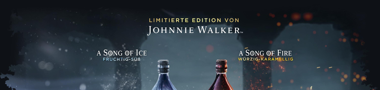 Limitierte Edition von Johnnie Walker A SONG OF ICE- Fruchtig-suess A SONG OF FIRE- Wuerzig-karamellig