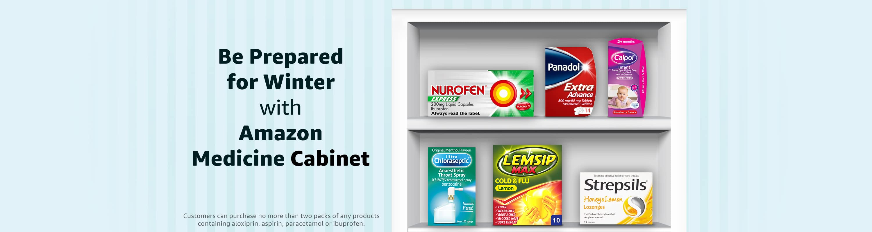 Be Prepared for Winter with Amazon Medicine Cabinet