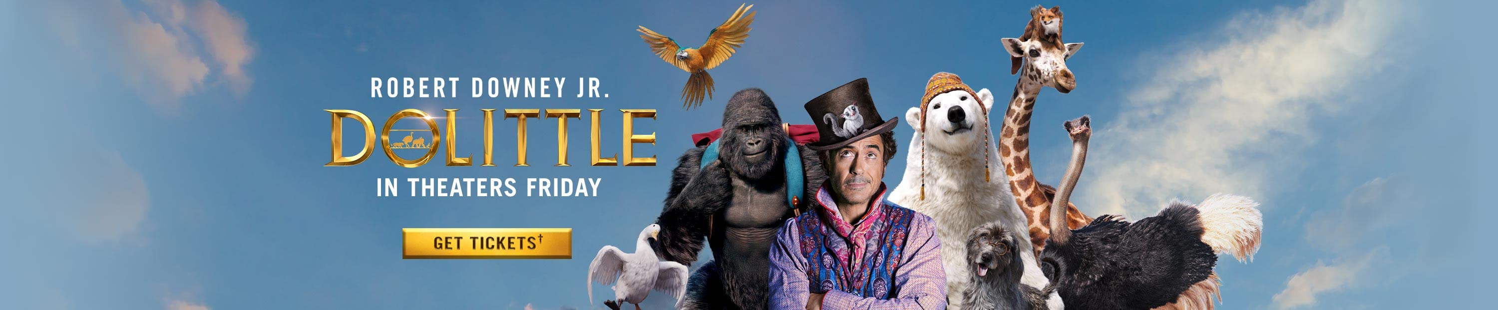 Dolittle in theaters January 17. Get tickets.