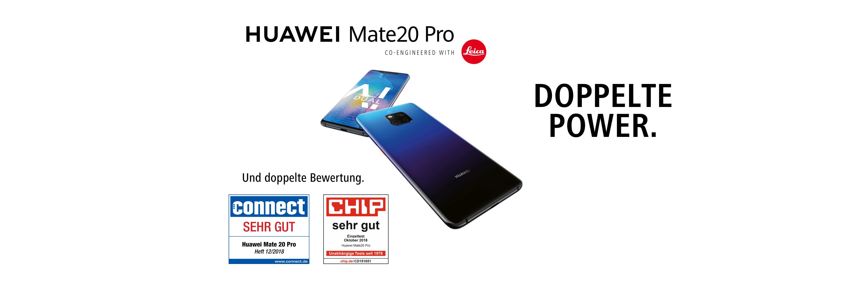 Huawei Mate20 Pro. Doppelte Power. Aesthetik trifft Innovation.