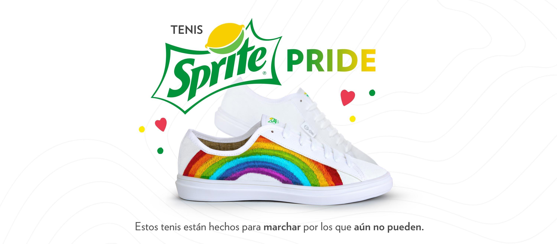 Tenis Sprite Pride. Estos tenis están hechos para marchar por los que aún no pueden.