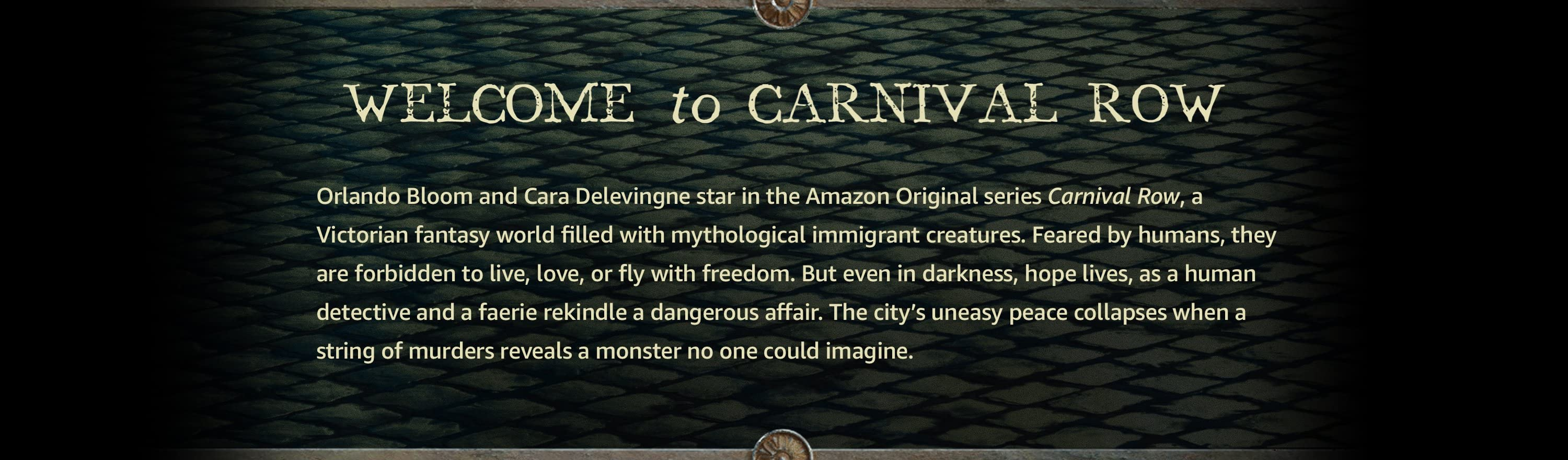 Welcome | Carnival Row on Amazon Prime