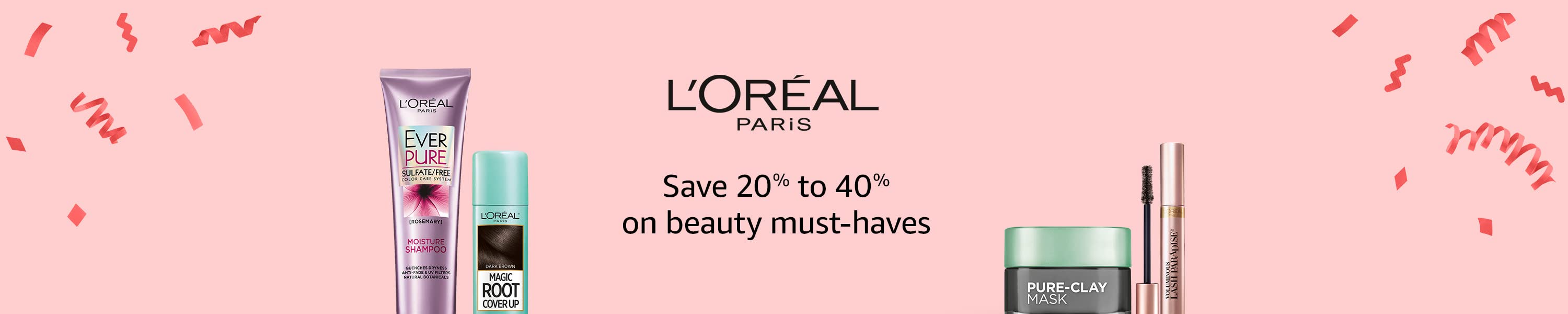 L'Oreal. Save 20% to 40% on beauty must-haves.