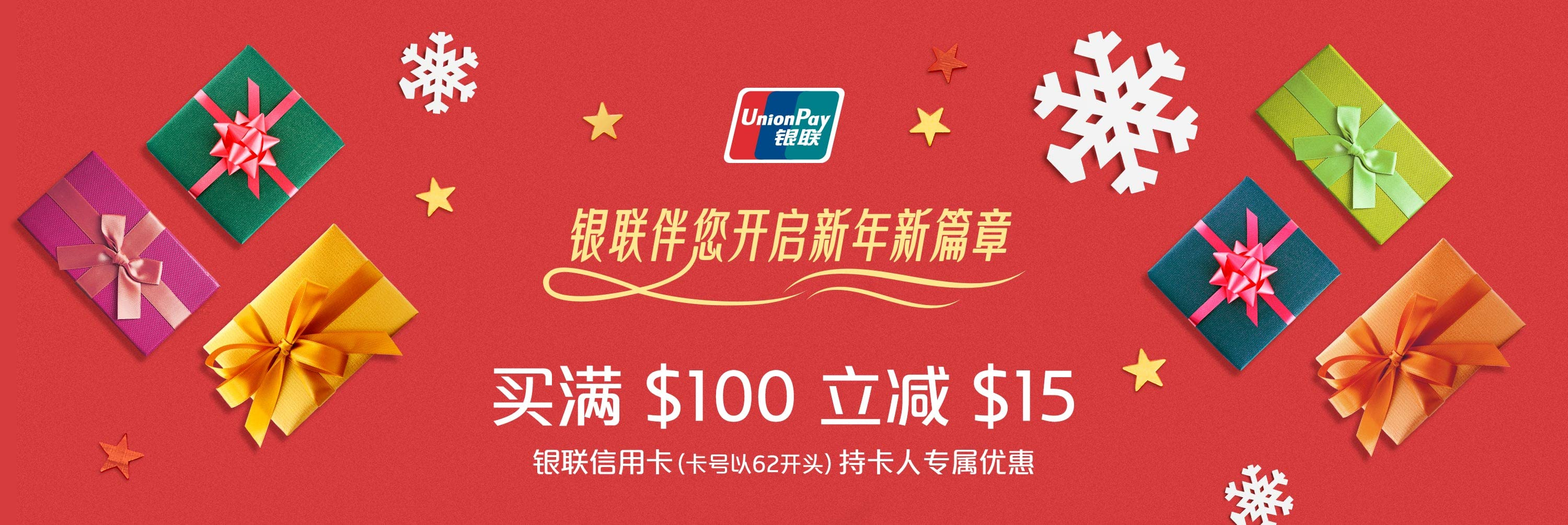 UnionPay. Start the new year your way.