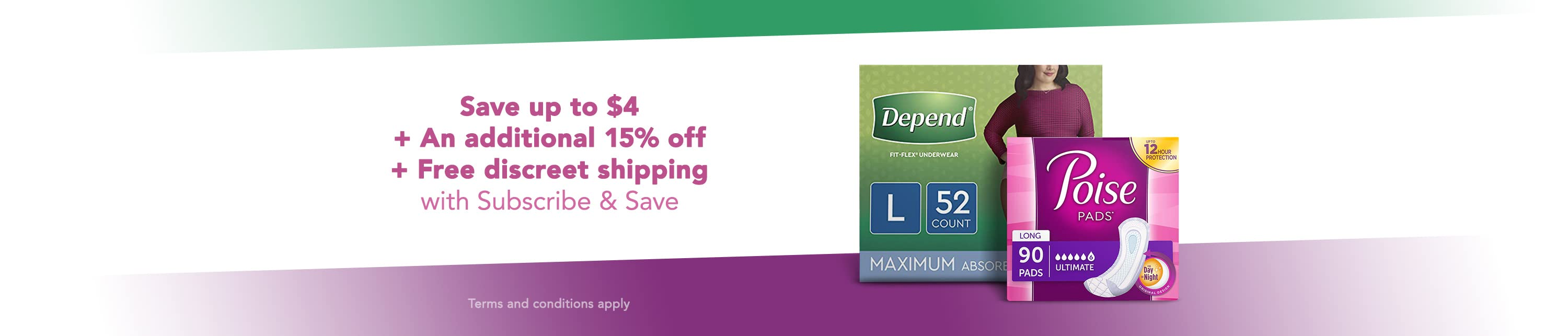 Save up to $4 plus an additional 15% off. Plus Free discreet shipping with Subscribe and Save.  Terms and conditions apply.