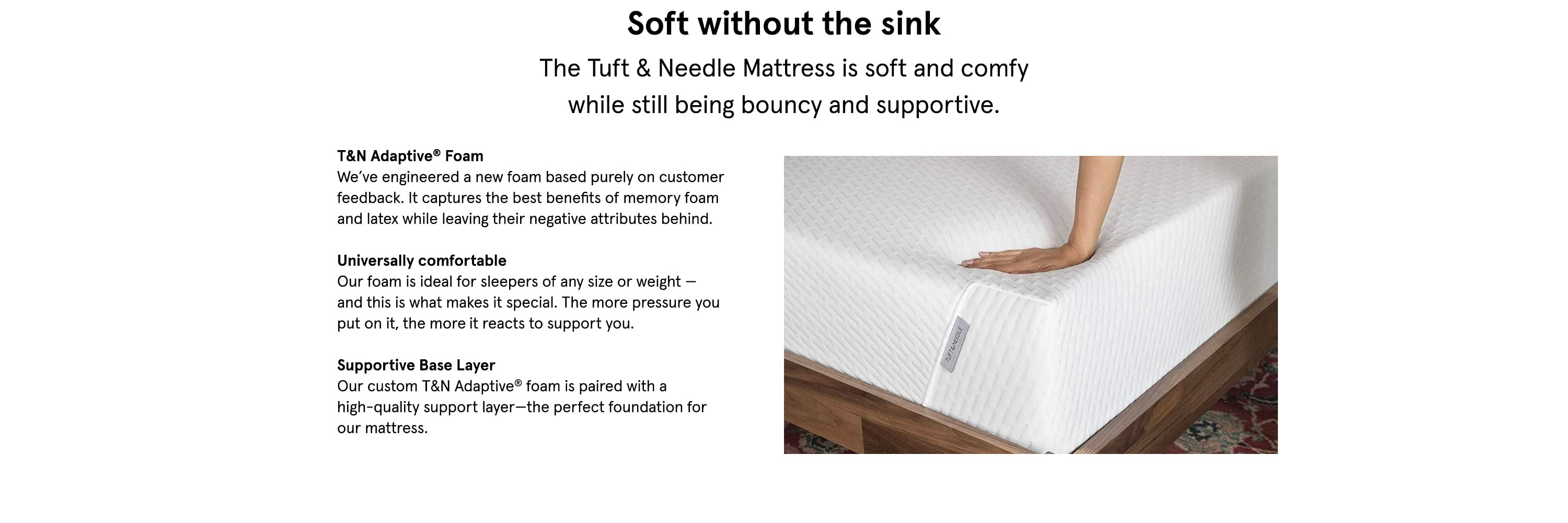 Soft without the sink