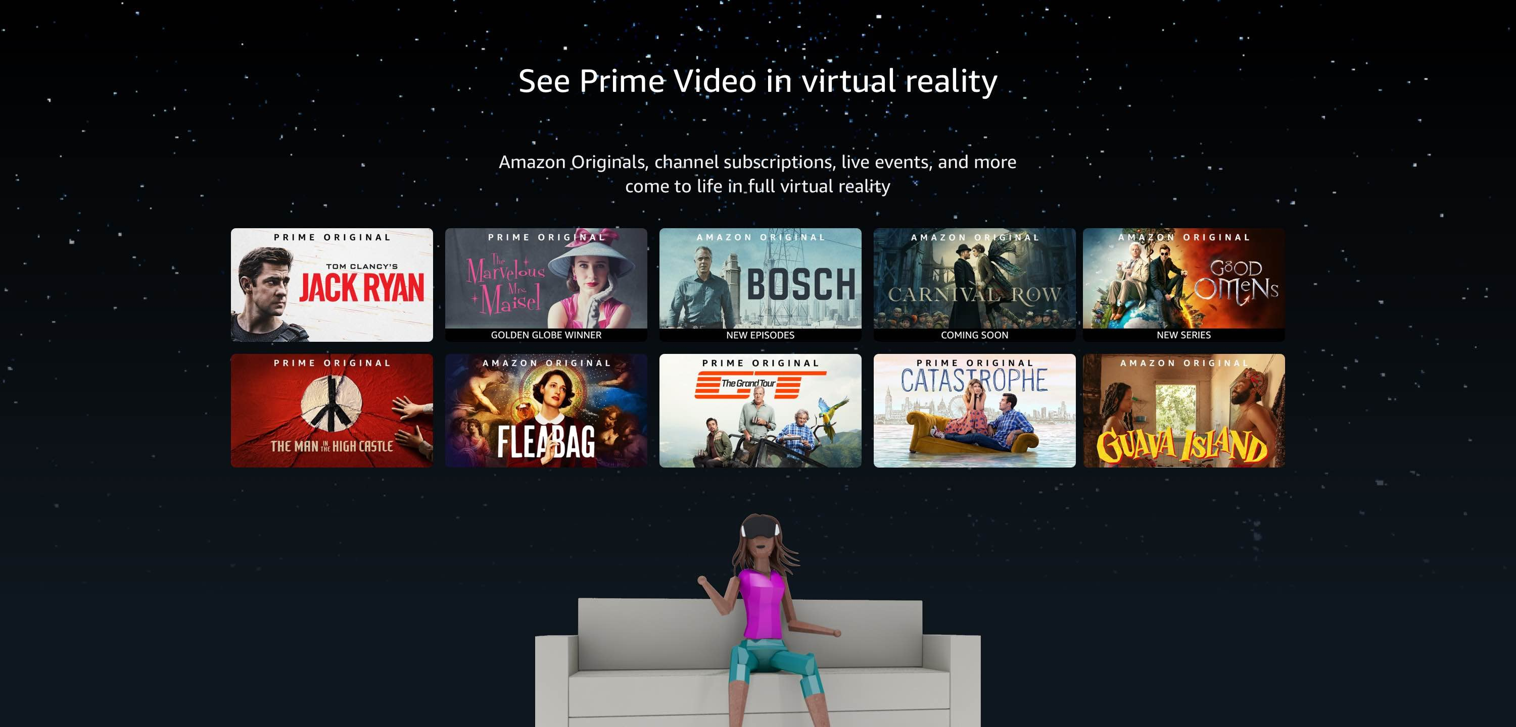See Prime Video in virtual reality
