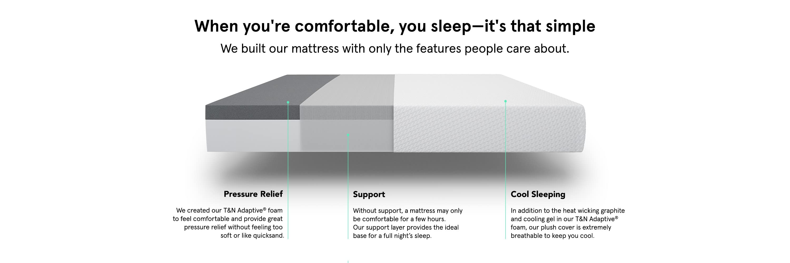 When you're comfortable, you sleep—it's that simple