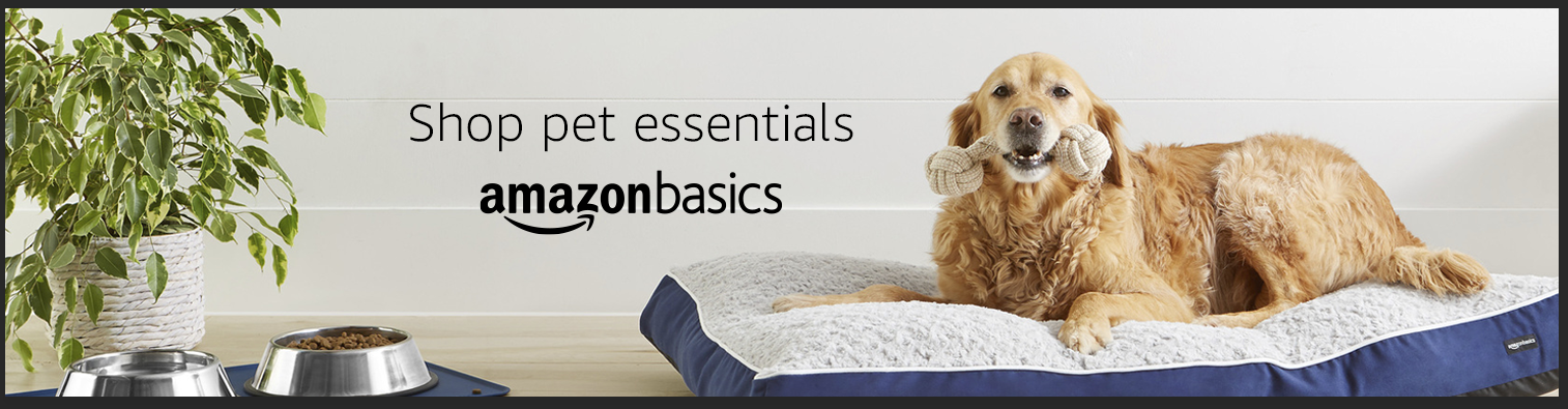 Pet essentials from AmazonBasics