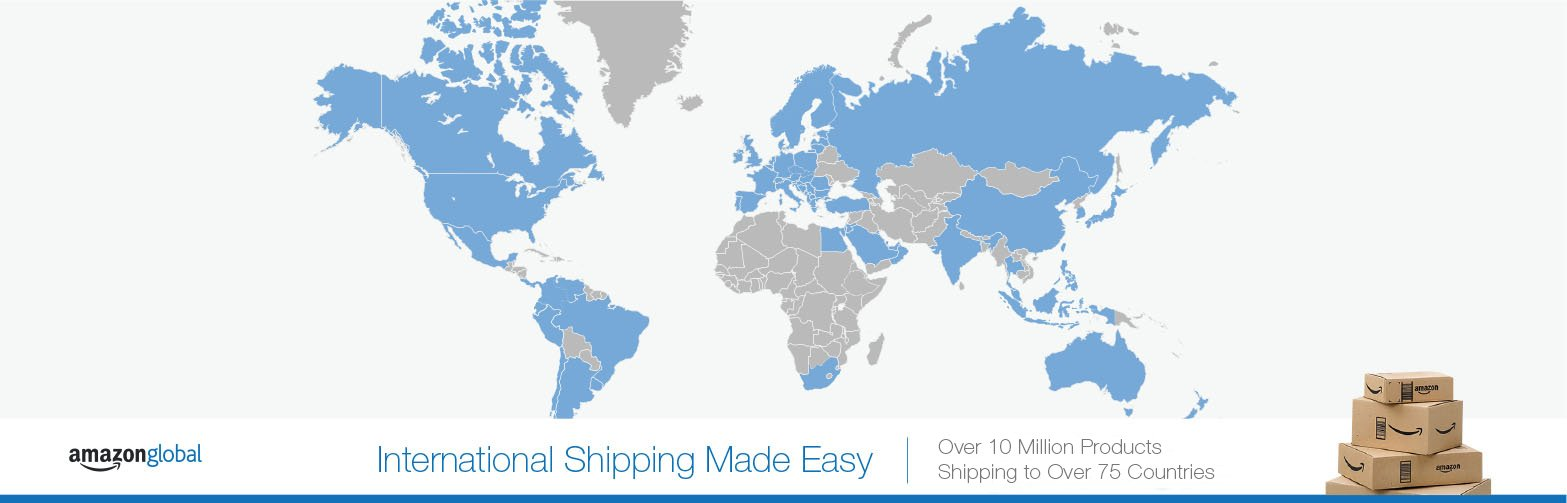 Amazon message amazon global international shipping made easy over 10 million products shipping to over 75 countries gumiabroncs Choice Image