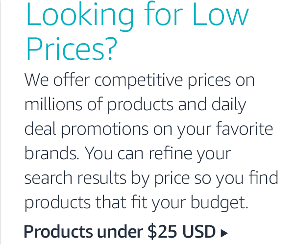 Looking for Low Prices?