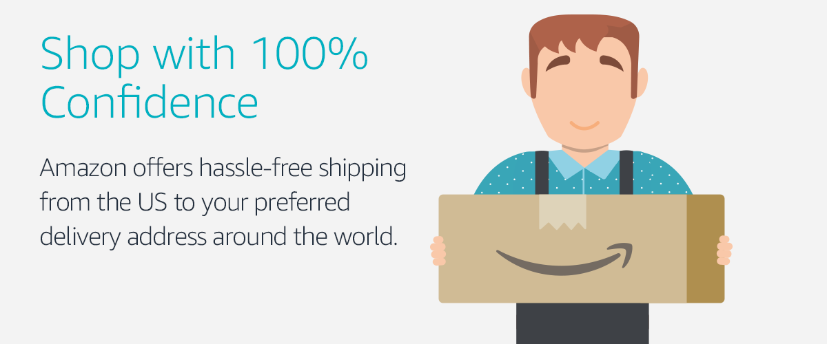 Amazon offers hassle-free shipping from the US to your preferred delivery address around the world.