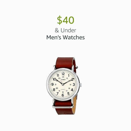 $40 & Under Men's Watches