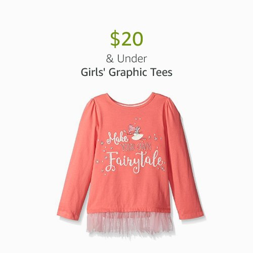 $20 & Under Girls' Graphic Tees