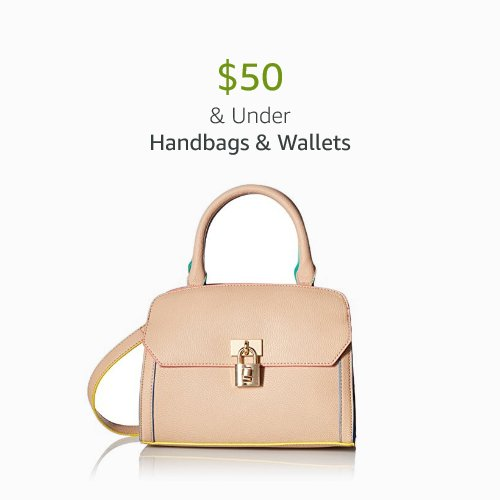 $50 & Under Handbags & Wallets