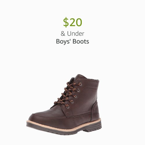 $20 & Under Boys' Boots