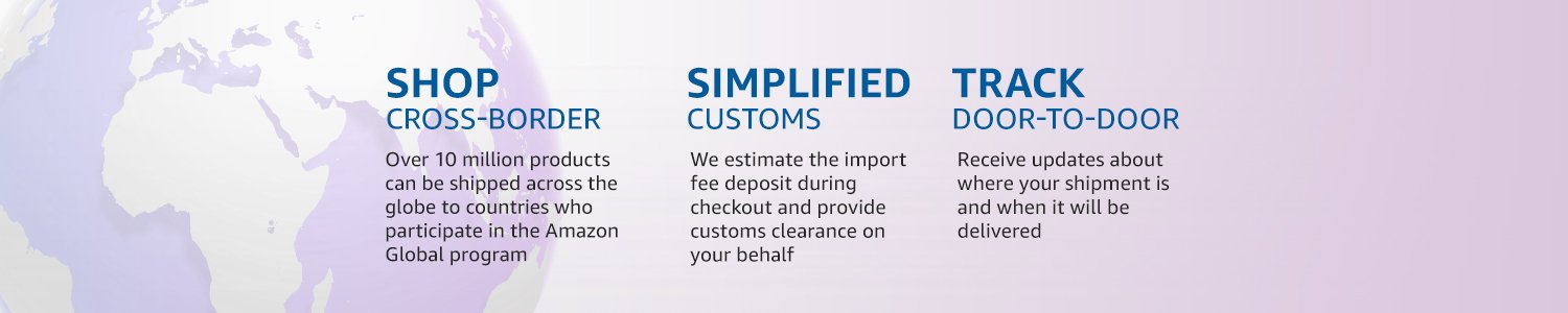 Shop cross border. Simplified customs. Track door-to-door.