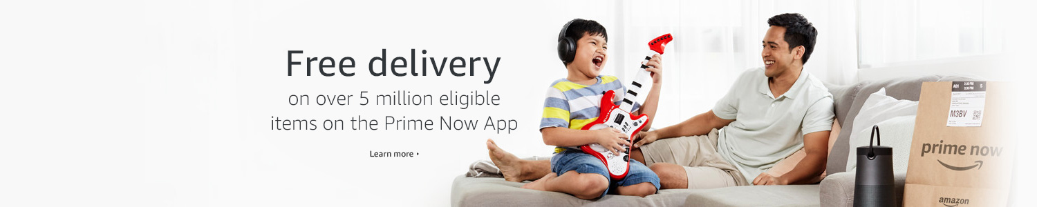 Free delivery on over 5 million eligible items on the Prime Now App