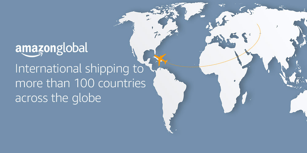 International shipping to more than 100 countries across the globe with Amazon Global