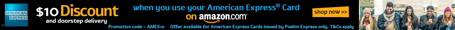 Save $10 on your order when you use your American Express card
