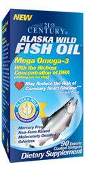 21st century alaska wild fish oil softgels 90 for Alaska fish counts