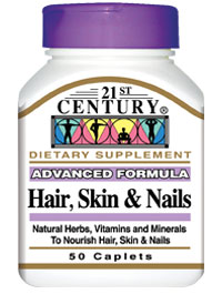 Amazon.com: 21st Century Hair, Skin and Nails 50 Caplet, (Pack of ...