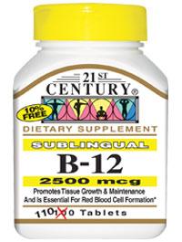 Vitamin B-12 2500mcg Sublingual