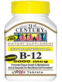 Vitamin B-12 5000mcg Sublingual