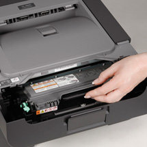 Easy to install, high-yield toner cartridge is available for low cost output