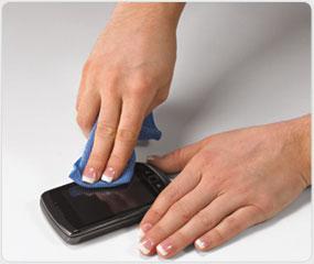 Wipe away fingerprints and oils