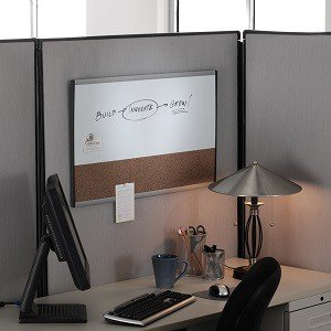 Quartet arc cubicle combination board 30 x Cubicle bulletin board ideas