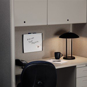 arc cubicle whiteboard 14x11 magnetic aluminum frame