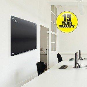 Infinity Magnetic Glass Marker Board, Black