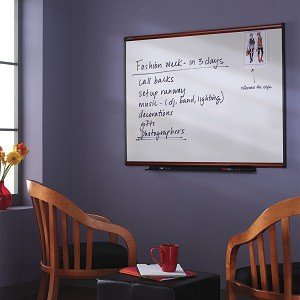 Total Erase Whiteboard, Mahogany Finish Frame