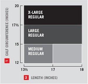 calf circumference sizing chart