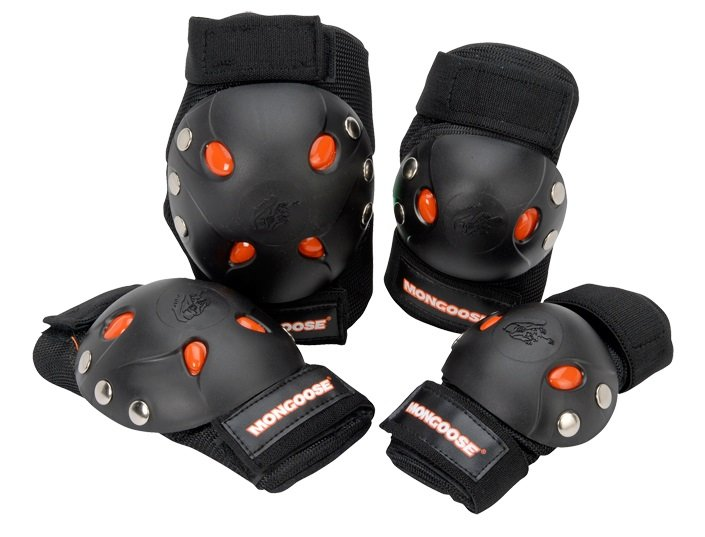 Amazon.com : Mongoose BMX Bike Gel Knee and Elbow Pad Set : Skate And