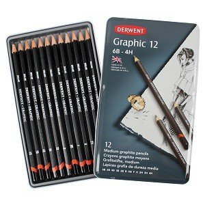 Graphic Pencils, Medium, 12-Ct.