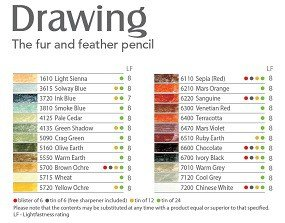 Available colors chart