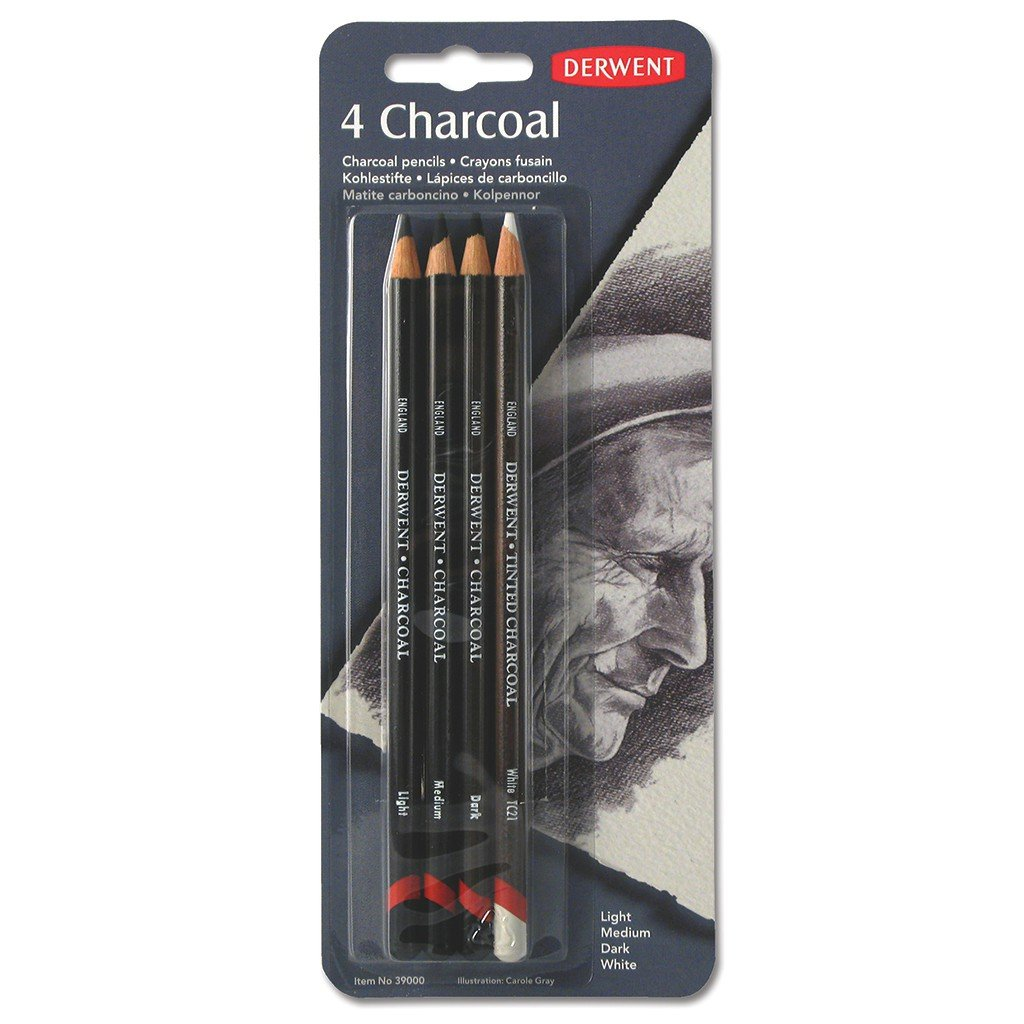 amazoncom derwent charcoal pencils pack 4 count 39000