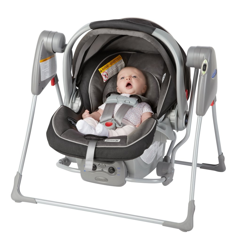 View Larger The SnugGlider Is Compatible With All Graco Classic Connect Infant Car Seats
