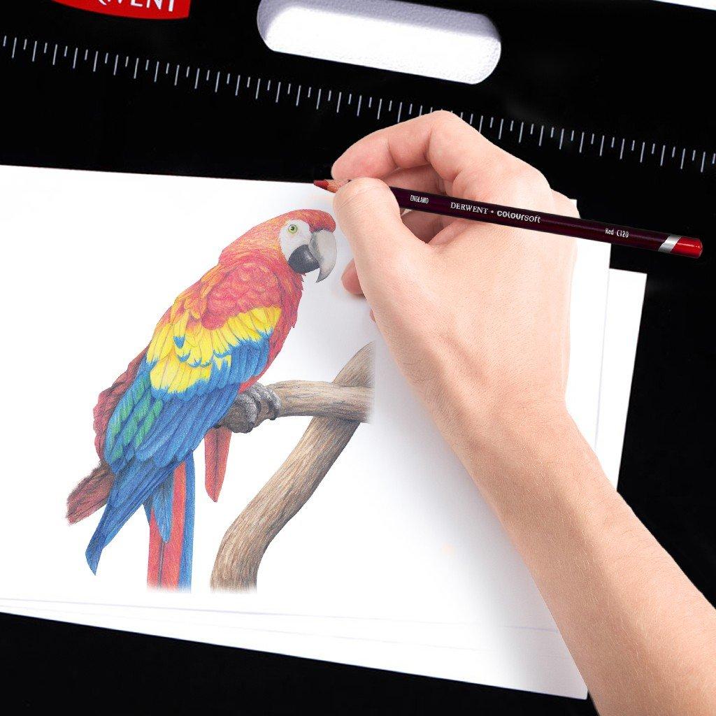 Amazon.com: Derwent Colorsoft Pencils, 4mm Core, Metal Tin