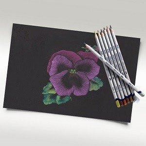 Metallic Flower Drawing