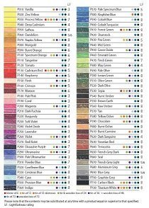 Pastel Pencils color chart