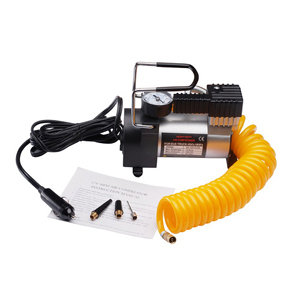 12 volt electric air pump w gauge for tires bikes cars air matresses floor bike. Black Bedroom Furniture Sets. Home Design Ideas