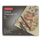 Tinted Charcoal Pencils, 24-Ct.