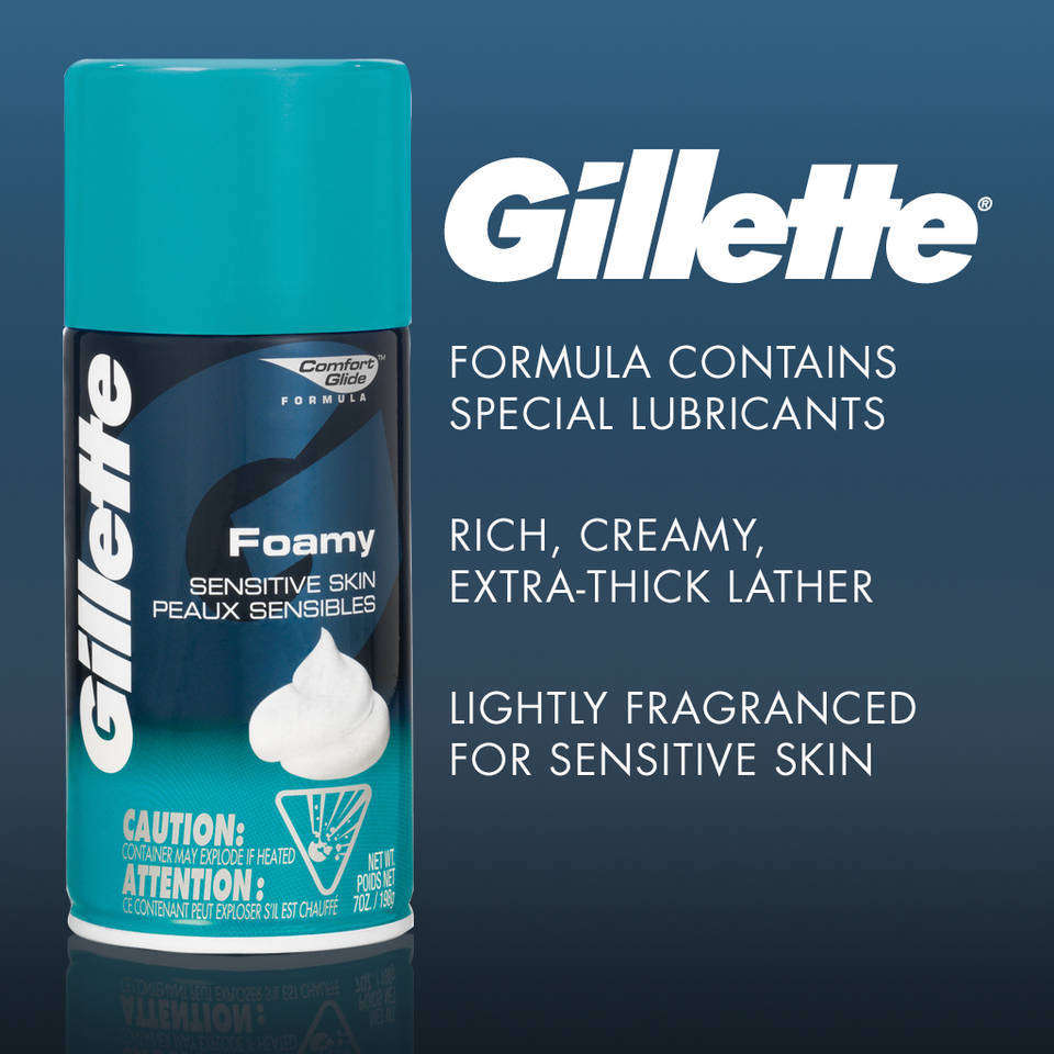 Amazon Com Gillette Foamy Shave Cream For Sensitive Skin