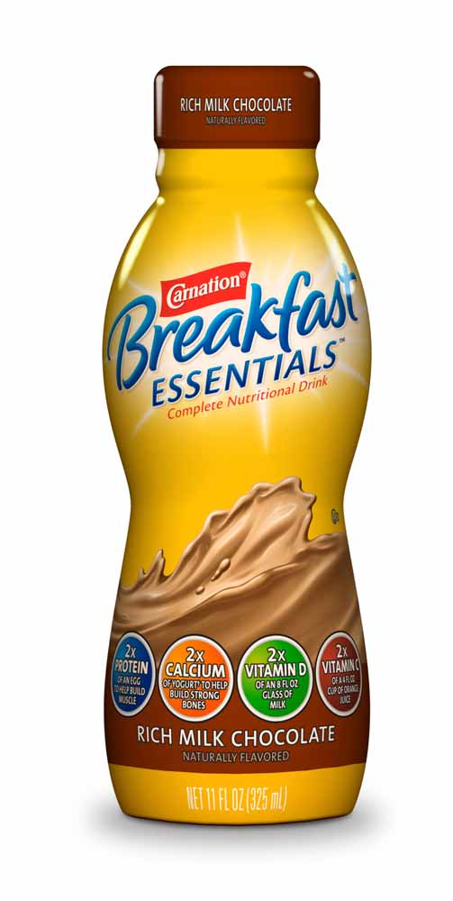 Amazon.com : Carnation Breakfast Essentials Ready to Drink, Rich Milk Chocolate, 4-Count, 11