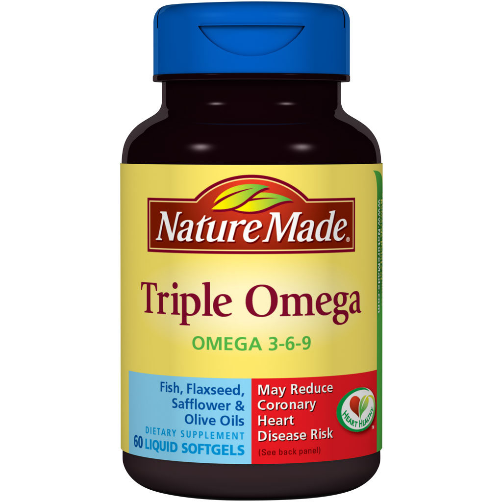 Amazon.com: Nature Made Triple Omega 3-6-9, 60 Softgels (Pack of 3